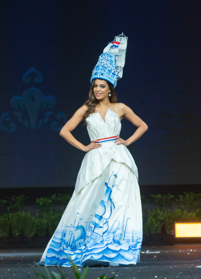 Rahima Dirkse, Miss Netherlands 2018 on stage during the National Costume Show, an international tradition where contestants display an authentic costume of choice that best represents the culture of their home country, on December 10th at Nongnooch Pattaya International Convention Exhibition (NICE). The Miss Universe contestants are touring, filming, rehearsing and preparing to compete for the Miss Universe crown in Bangkok, Thailand. Tune in to the FOX telecast at 7:00 PM ET live/PT tape-delayed on Sunday, December 16, 2018 from the IMPACT Arena in Bangkok, Thailand to see who will become the next Miss Universe. HO/The Miss Universe Organization