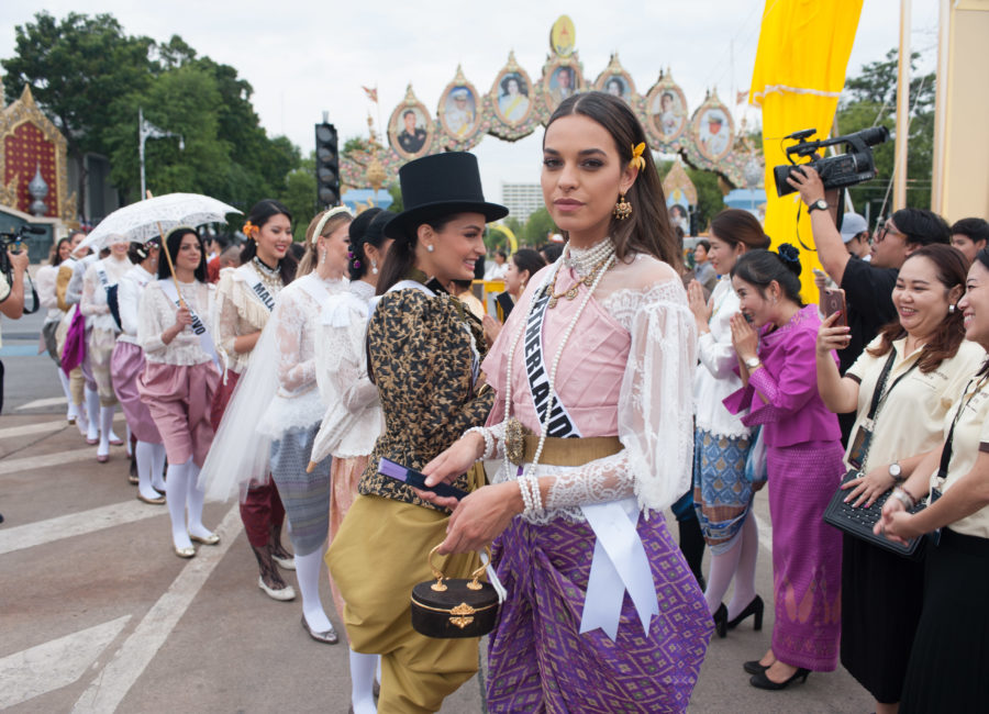 Rahima Dirkse, Miss Netherlands 2018 attends the Royal Winter Festival in Bangkok, Thailand on December 8th. The Miss Universe contestants are touring, filming, rehearsing and preparing to compete for the Miss Universe crown in Bangkok, Thailand. Tune in to the FOX telecast at 7:00 PM ET live/PT tape-delayed on Sunday, December 16, 2018 from the IMPACT Arena in Bangkok, Thailand to see who will become the next Miss Universe. HO/The Miss Universe Organization