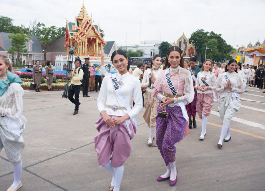 Yuumi Kato, Miss Japan 2018; and Rahima Dirkse, Miss Netherlands 2018; attend the Royal Winter Festival in Bangkok, Thailand on December 8th. The Miss Universe contestants are touring, filming, rehearsing and preparing to compete for the Miss Universe crown in Bangkok, Thailand. Tune in to the FOX telecast at 7:00 PM ET live/PT tape-delayed on Sunday, December 16, 2018 from the IMPACT Arena in Bangkok, Thailand to see who will become the next Miss Universe. HO/The Miss Universe Organization