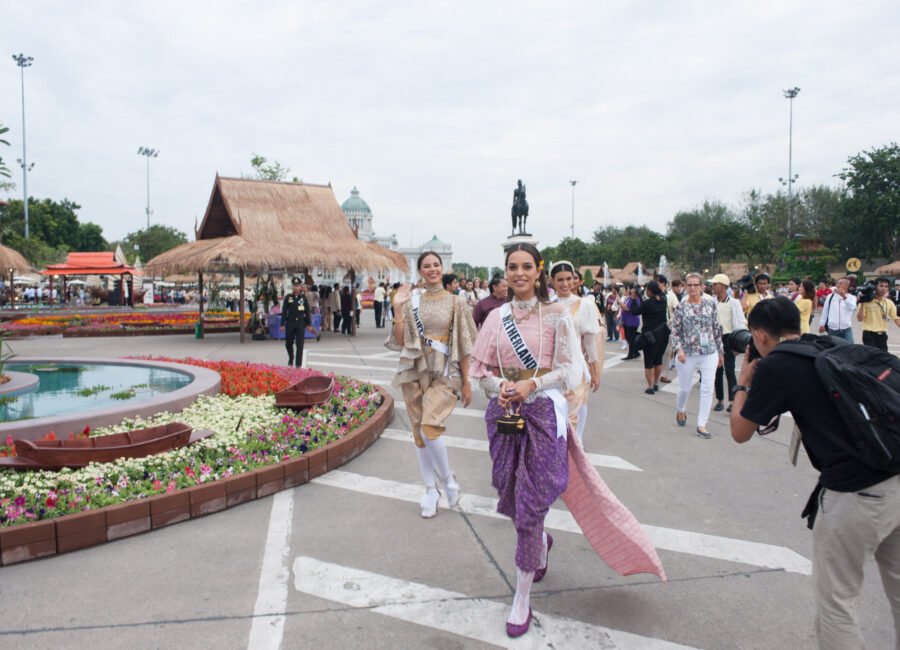 Catriona Gray, Miss Philippines 2018; and Rahima Dirkse, Miss Netherlands 2018; attend the Royal Winter Festival in Bangkok, Thailand on December 8th. The Miss Universe contestants are touring, filming, rehearsing and preparing to compete for the Miss Universe crown in Bangkok, Thailand. Tune in to the FOX telecast at 7:00 PM ET live/PT tape-delayed on Sunday, December 16, 2018 from the IMPACT Arena in Bangkok, Thailand to see who will become the next Miss Universe. HO/The Miss Universe Organization