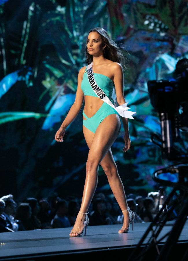 Rahima Dirkse, Miss Netherlands 2018 competes on stage in swimwear by Sirivannavari Bangkok during the MISS UNIVERSE® Preliminary Competition at IMPACT Arena in Bangkok, Thailand on Thursday, December 13th. The Miss Universe contestants have been touring, filming, rehearsing and preparing to compete for the Miss Universe crown in Bangkok, Thailand. Tune in to the FOX telecast at 7:00 PM ET live/PT tape-delayed on Sunday, December 16, 2018 from the IMPACT Arena in Bangkok, Thailand to see who will become the next Miss Universe. HO/The Miss Universe Organization