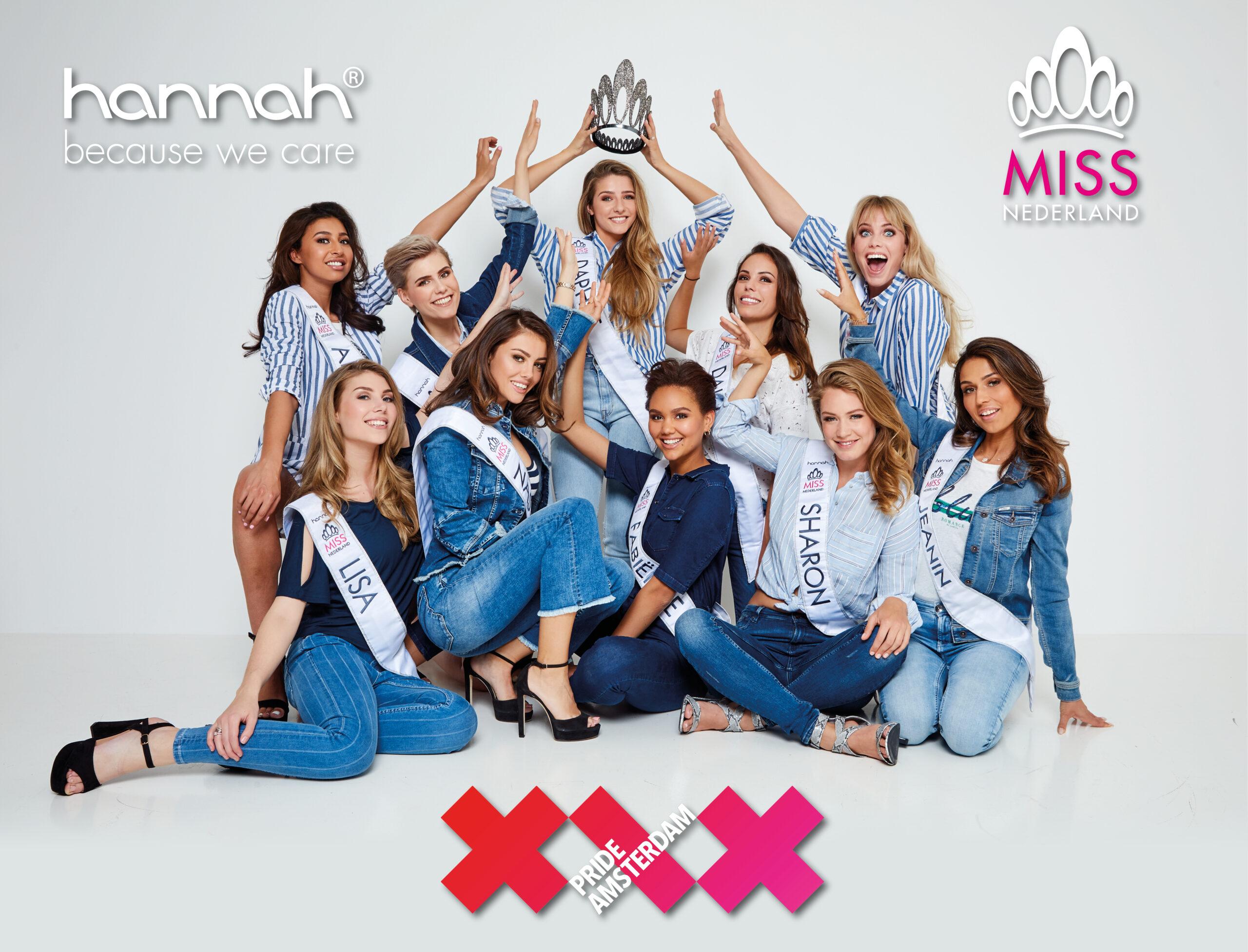 Miss Nederland vaart dankzij hoofdsponsor hannah mee tijdens Canal Parade