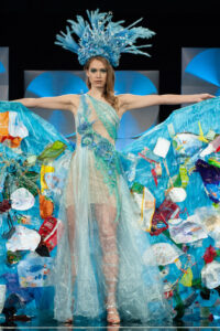 Sharon Pieksma, Miss Netherlands 2019 on stage during the National Costume Show at the Marriott Marquis in Atlanta on Friday, December 6, 2019. The National Costume Show is an international tradition where contestants display an authentic costume of choice that best represents the culture of their home country. The Miss Universe contestants are touring, filming, rehearsing and preparing to compete for the Miss Universe crown in Atlanta. Tune in to the FOX telecast at 7:00 PM ET on Sunday, December 8, 2019 live from Tyler Perry Studios in Atlanta to see who will become the next Miss Universe. HO/The Miss Universe Organization